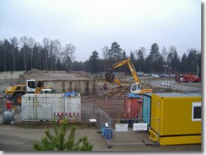 Baustelleneinrichtung (Schwarz-Weiß-Schleuse)